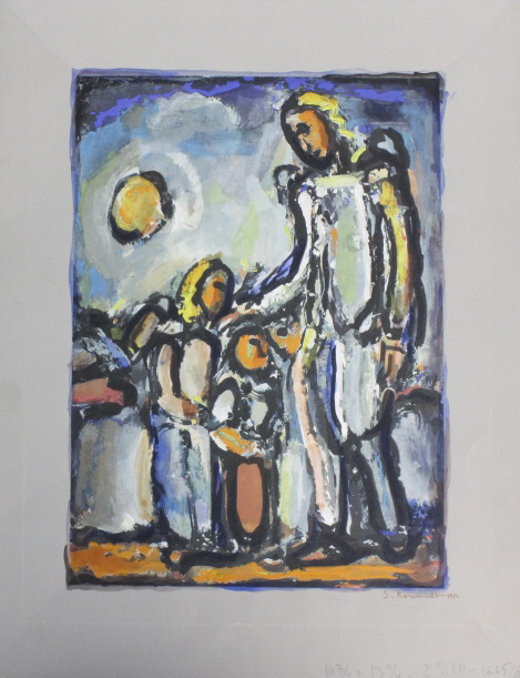 Signed Georges Rouault Colored Lithograph Print Litho from The Bass Museum