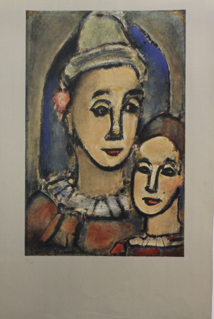 Georges Rouault Clown & Boy L/E Lithograph Print from The Bass Museum