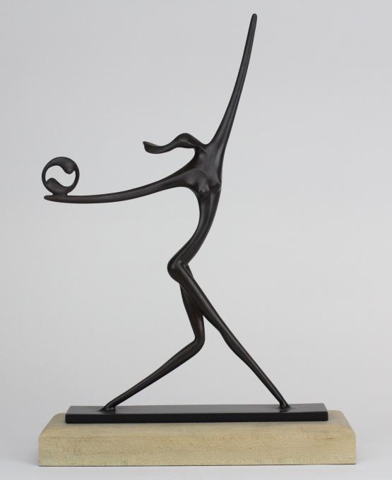 Signed Leon Bronstein L/E Figural Bronze Sculpture