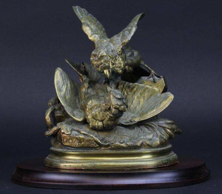 Jules Moigniez (1835-1894) Bronze Bird Sculpture