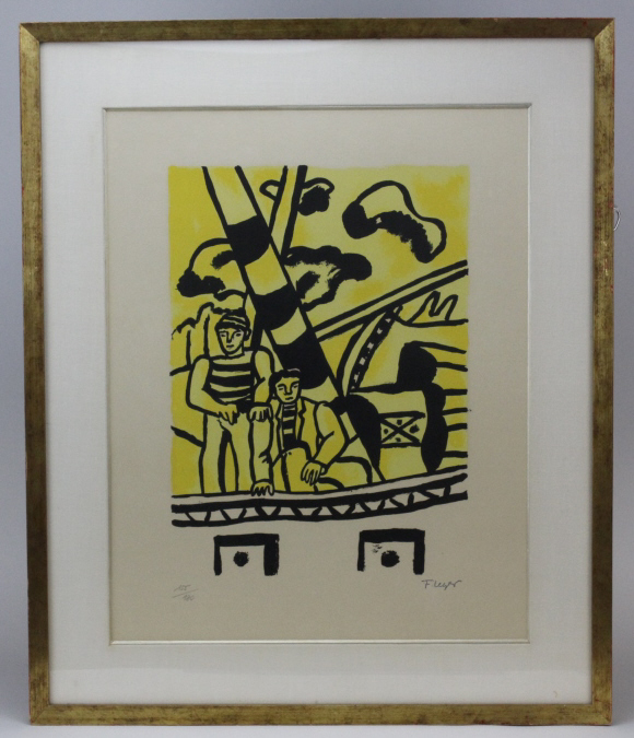 Fernand Leger Le Remorque Jaune Sailor Litho Print  from The Bass Museum
