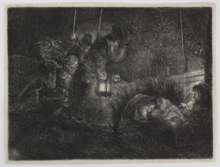 Rembrandt Adoration of the Shephards Night Piece from The Bass Museum