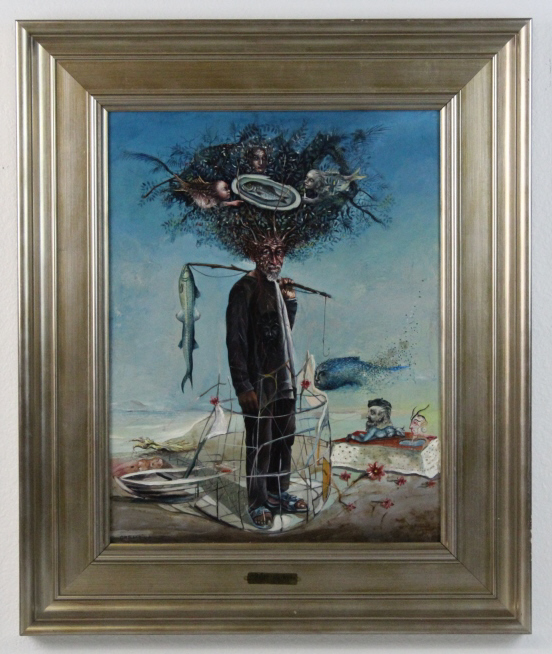 Williams Carmona Surrealist Portrait Oil Painting
