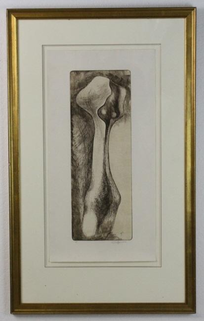 Pencil Signed Roberto Estopinan (1921-2015) Cuban Modernist L/E A/P Print