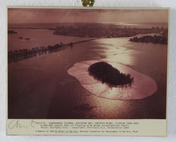 CHRISTO Surrounded Islands Signed Photograph 1984