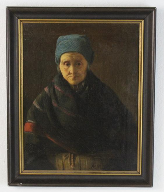 Signed Adolf Friedrich Erdman von Menzel Portrait Oil Painting