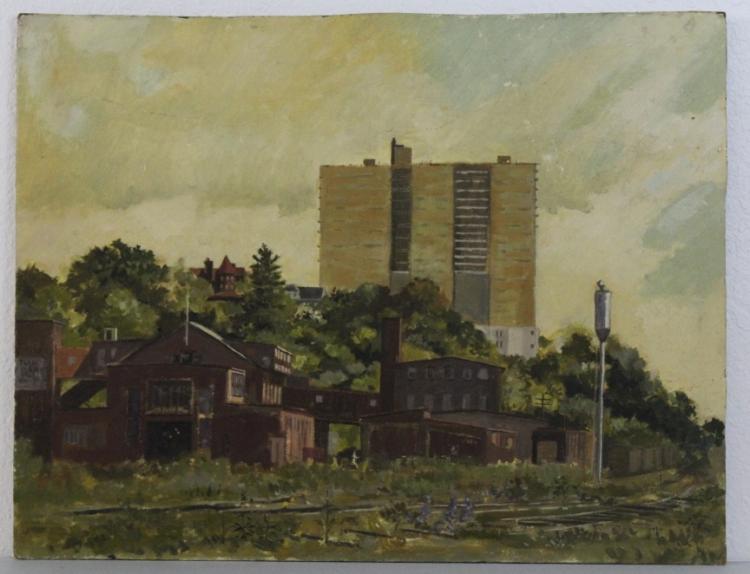 Robert Solotaire (1930-2008) Maine Rural Landscape Oil Painting