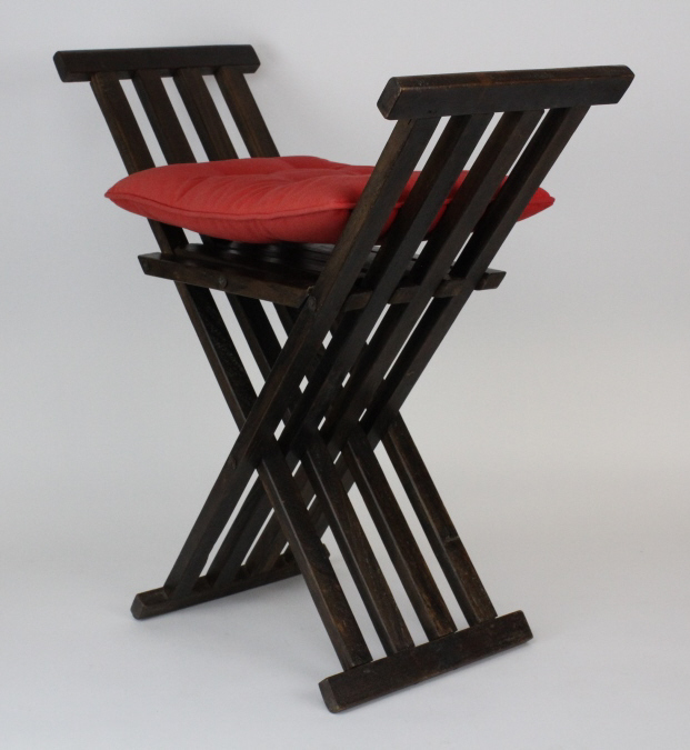 Antique 20th Century Brazilian Pioneer Wood Bench from The Bass Museum
