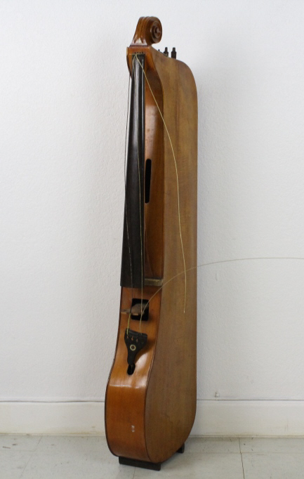 Antique Lyre Wood Mahogany Musical Instrument from The Bass Museum