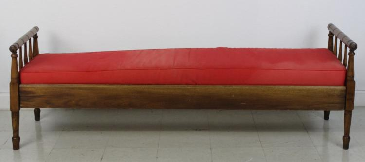 Antique 19c Maple New England Journeyman's Bed from The Bass Museum