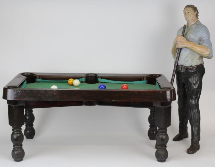 Murray Gaby American Pool Player Sculpture from The Bass Museum