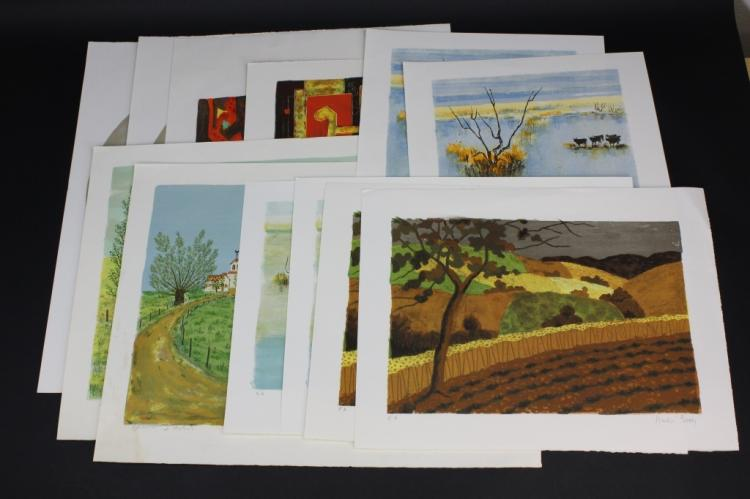 Collection of 43 Mid Century Modern Litho Prints Lithograph from The Bass Museum
