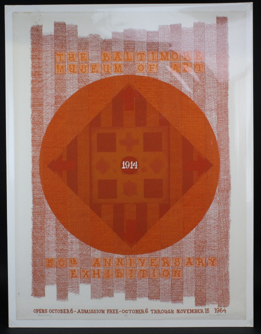 Signed George Ortman Anniversary Silkscreen Print from The Bass Museum