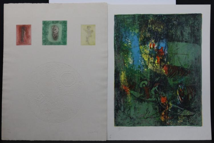 3 Hoi Lebadang Limited Ed Color Lithograph Prints Litho from The Bass Museum