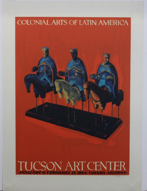 Signed 1966 Rafael Tufino Three Kings Serigraph from The Bass Museum