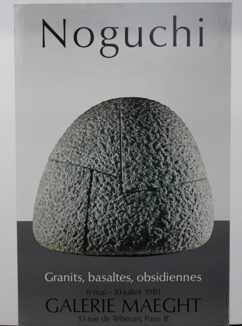 Isamu Noguchi Galerie Maeght Exhibition Poster from The Bass Museum