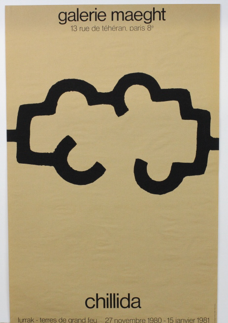 Eduardo Chillida Galerie Maeght Exhibition Poster from The Bass Museum