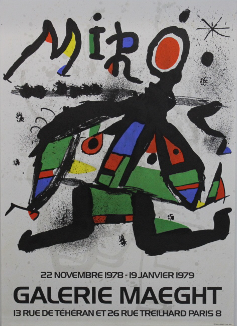 3 Joan Miro Galerie Maeght Exhibition Posters from The Bass Museum