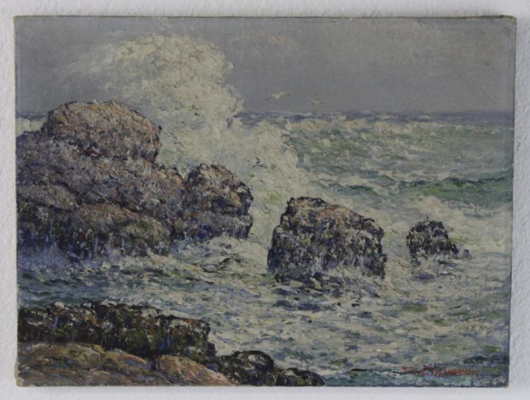 Theodore Valenkamph Coastal Seascape Oil Painting