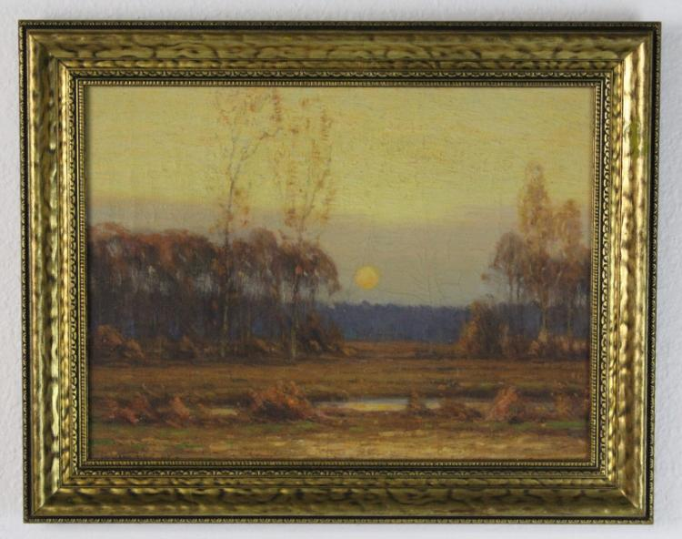 Gustave Adolph Wiegand Landscape Oil Painting