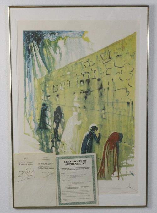 Salvador Dali Wailing Wall L/E Lithograph Print