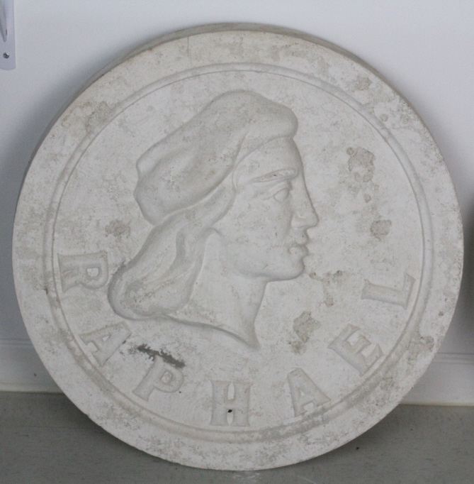 Raphael Bas Relief Architectural Medallion Miami from The Bass Museum