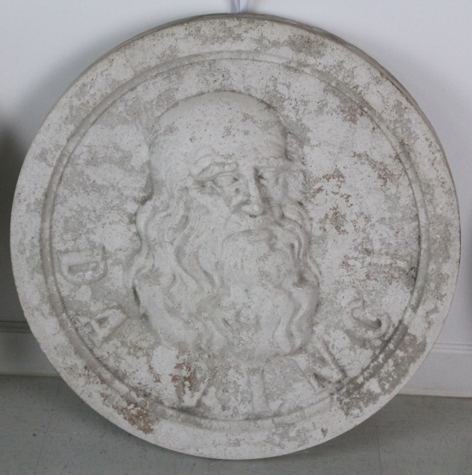 DaVinci Bas Relief Architectural Medallion Miami from The Bass Museum