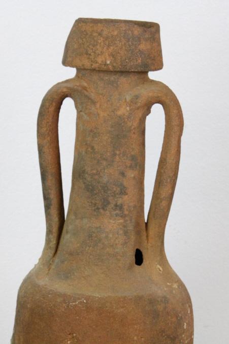 Ancient Roman Greek Amphora Pottery Vase W Stand