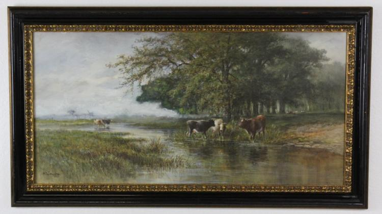 Hugo Anton Fisher Watercolor Landscape Painting