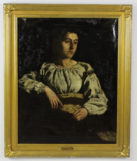 Wilhelm Lowith Peasant Woman Portrait Oil Painting