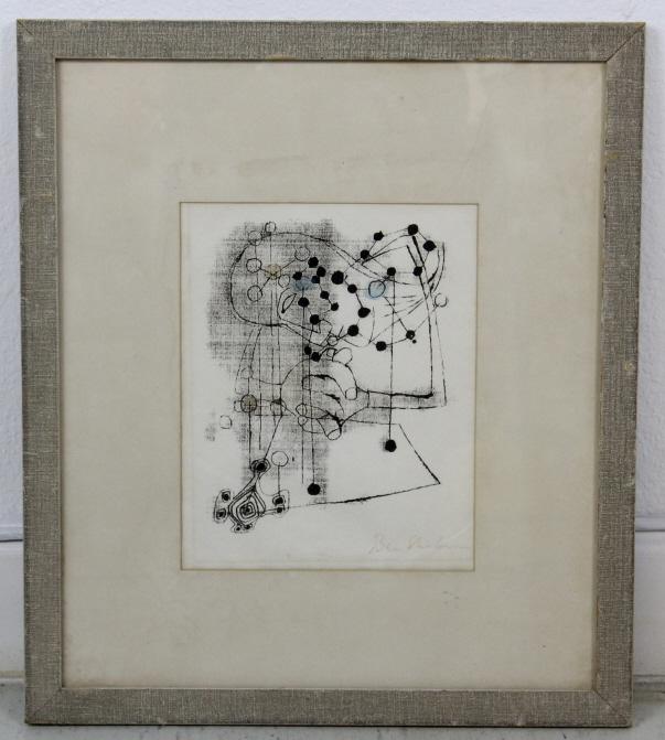 Ben Shahn Praying Woman Modernist Silkscreen Print
