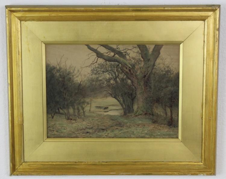 Antique Wilmot Pilsbury English Landscape Painting