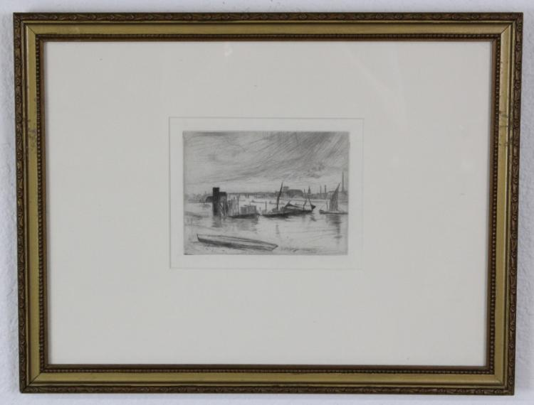 James McNeill Whistler Thames Series Etching
