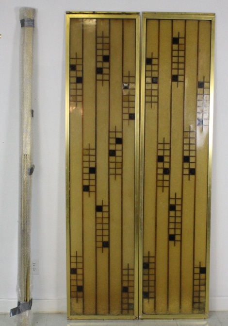 Pair of Mid Century Modern Shower Doors from Morris Lapidus Estate