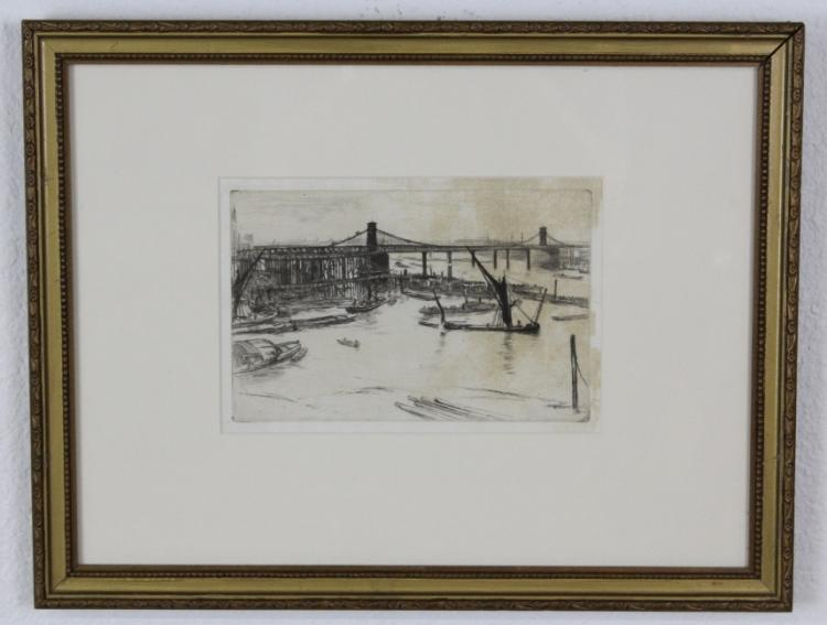 James McNeill Whistler Hungerford Bridge Etching