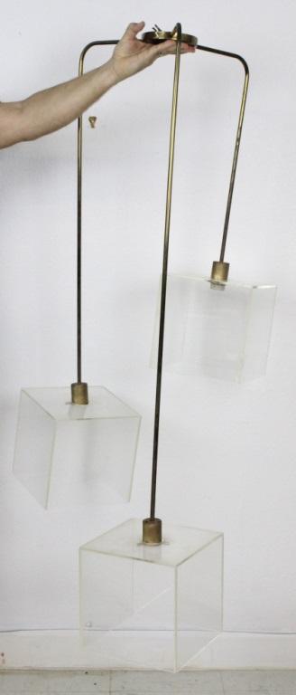 Morris Lapidus Designed Lucite Modern Ceiling Light Fixture from the Estate