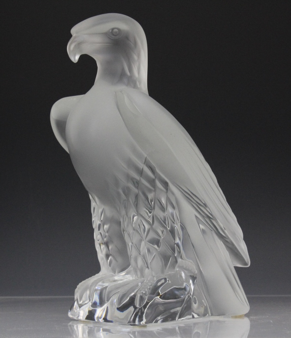 Signed LALIQUE France Liberte Eagle French 9.5