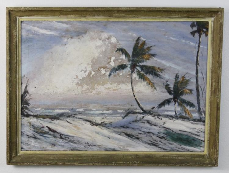 Signed Alfred Hair (1941-1971) Florida Highwaymen Landscape Seascape Painting