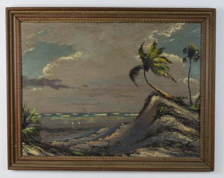 Alfred Hair (1941-1971) Florida Highwaymen Landscape Seascape Painting