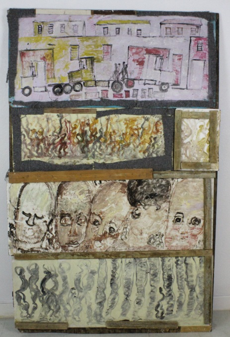 Signed Purvis Young (1943-2010) American Outsider Folk Art Assembled 76