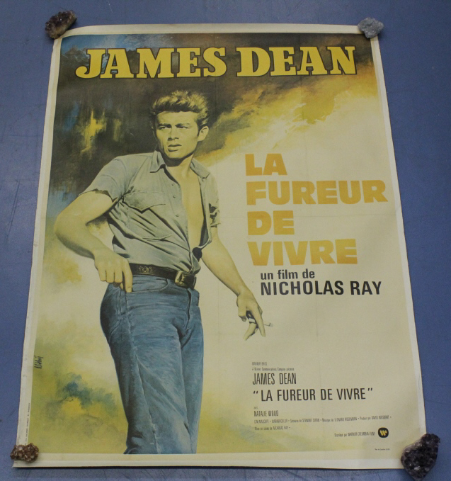 Vintage James Dean La Fureur de Vivre Movie Poster