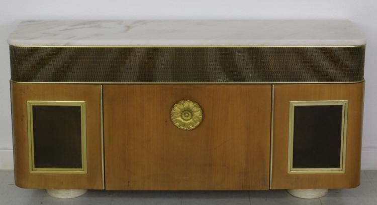 Mid Century Modern Grundig Stereo Credenza Designed by Morris Lapidus