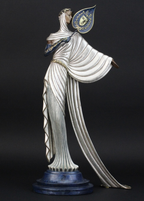 Erte TANAGRA Art Deco Female L/E Bronze Sculpture