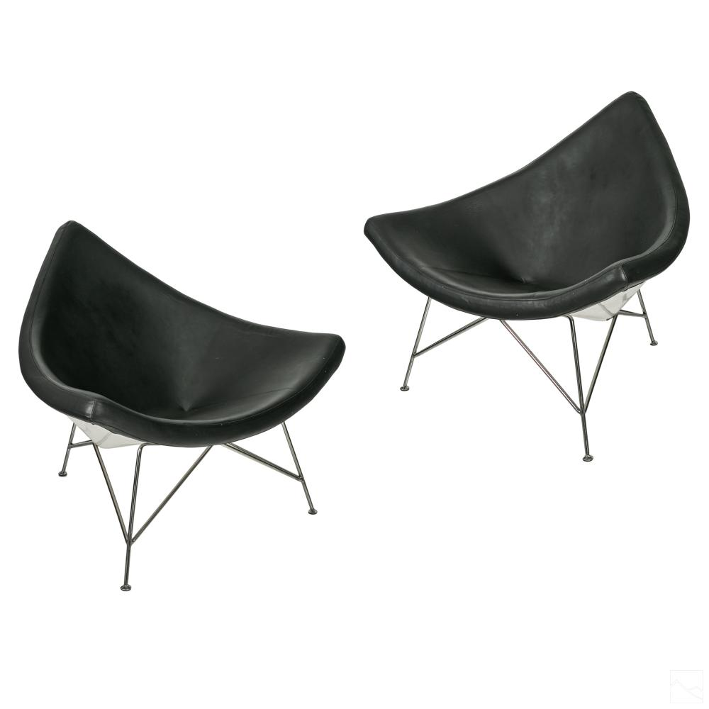 Coconut Lounge Chairs Designed by George Nelson