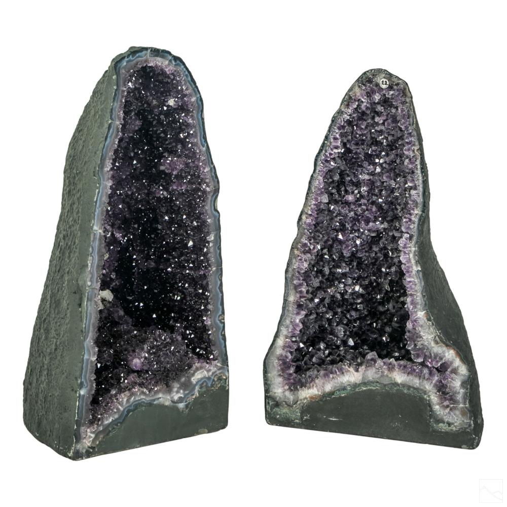 Purple Amethyst Geode Cathedral Mineral Specimens