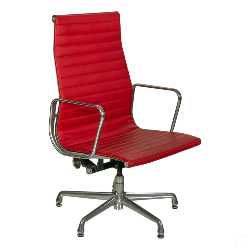 Eames Herman Miller Aluminum Leather Group Chair