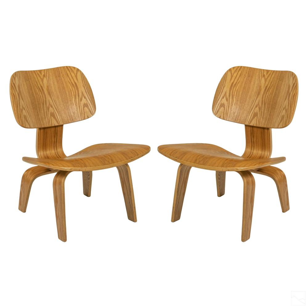 Wood Lounge Chairs Designed by Charles & Ray Eames