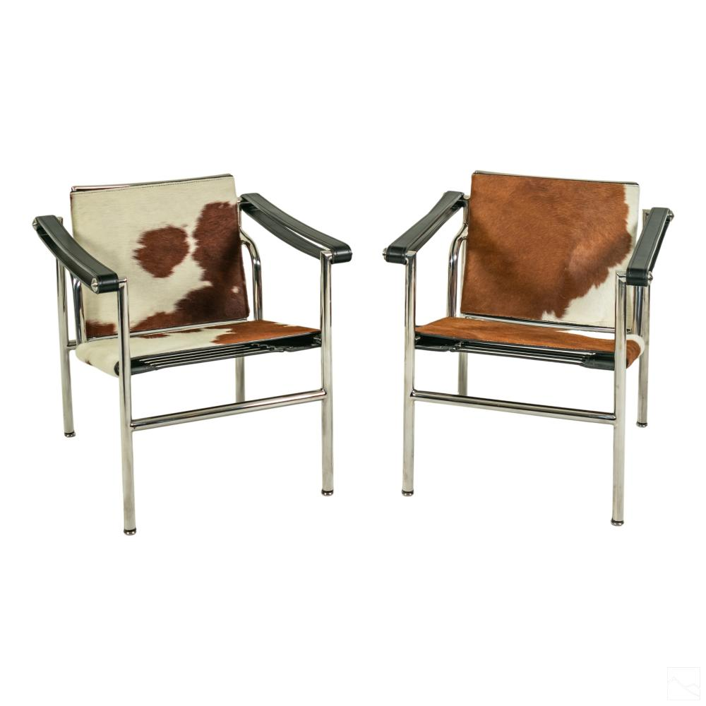 Modern Cowhide Sling Chairs Style Charles Pollock