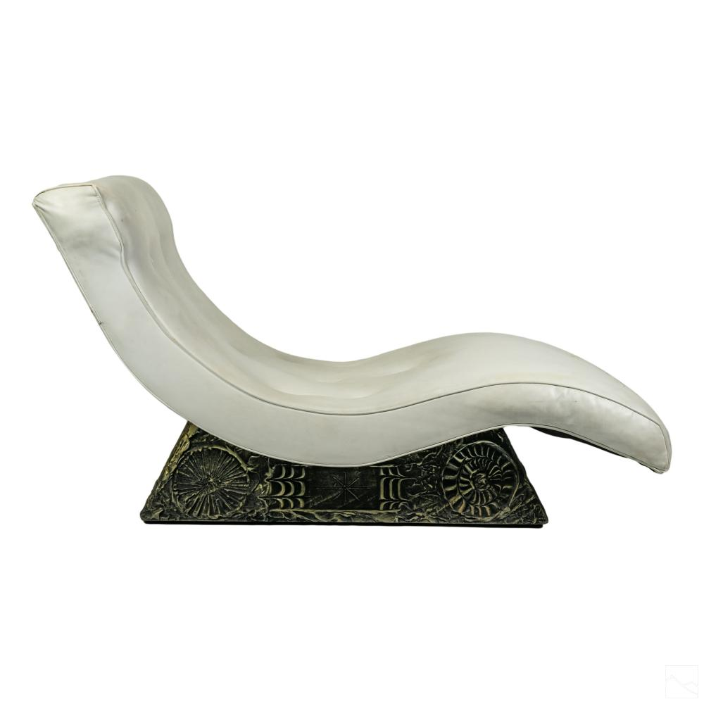 Adrian Pearsall 1925-2011 Brutalist Chaise Lounge