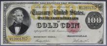 High Grade 1882 $100 Gold Certificate Fr. 1214 Dollar Bill
